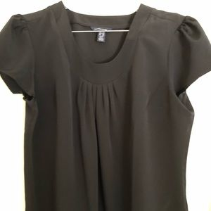 Womens Lands' End black polyester blouse